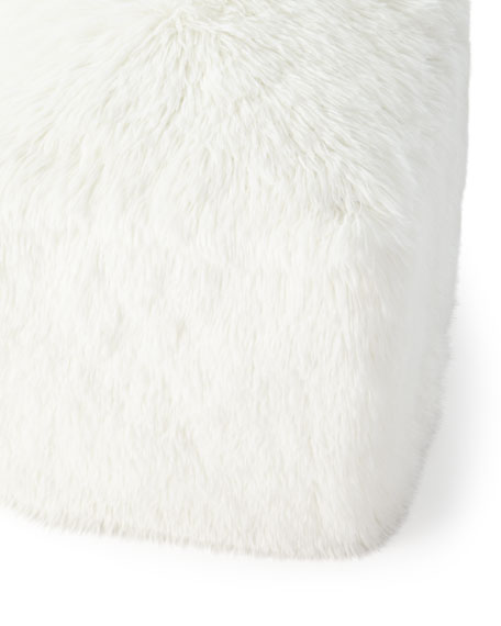 Faux-Fur Pouf Stool