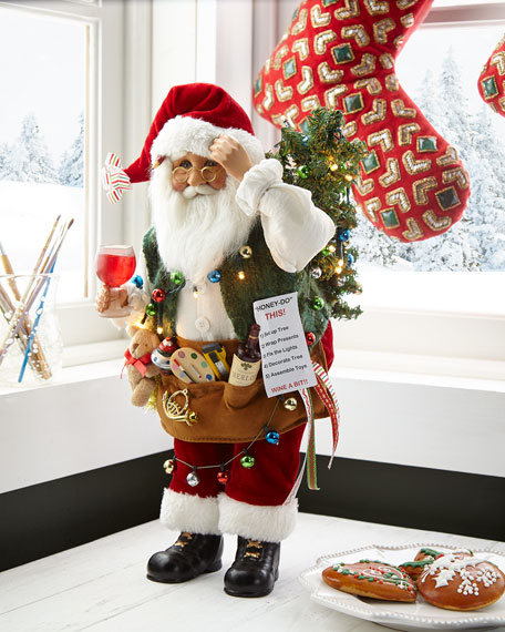 Lighted 'Honey-Do' List Santa
