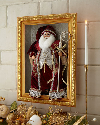 Burgundy Jewel Santa in Frame
