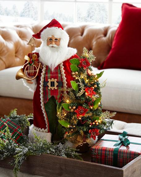 Lighted Christmas Tartan Santa