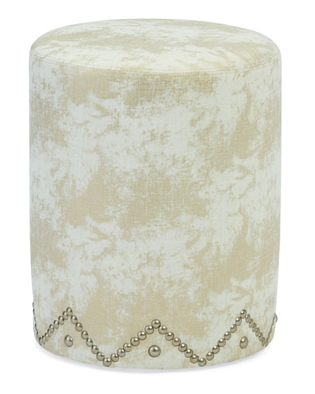 One-of-a-Kind Round Ottoman