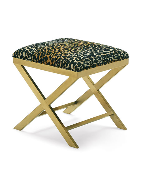 One-of-a-Kind Leopard X Bench