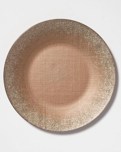 Glitter Glass Service Plate  Ginger