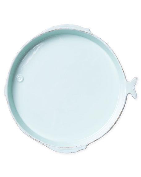 Melamine Lastra Fish Round Platter