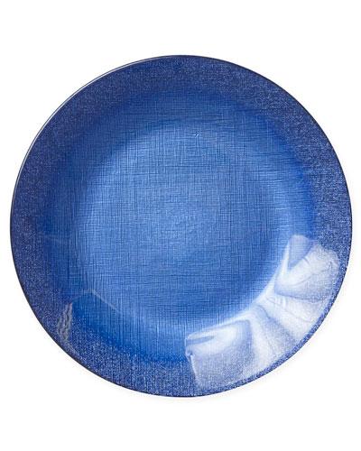 Glitter Glass Service Plate  Cobalt