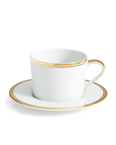 Wilshire Tea Cup and Saucer  Gold