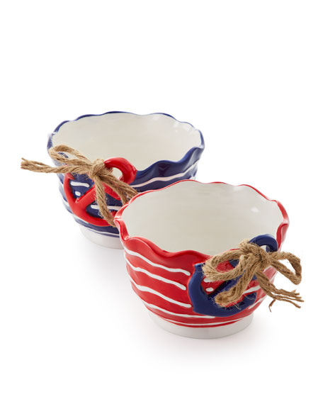 Anchors Away Bowls, Set of 2