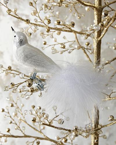 White Clip-On Bird