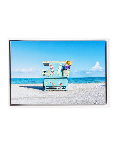 "Lifeguard Chair Beach Photography Giclee, 24"" x 16"""