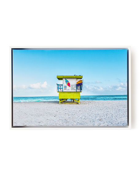 Lifeguard Chair Keep Beach Clean Photography Giclee, 24