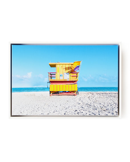 "Lifeguard Chair 8th Street Beach Photography Giclee, 24"" x 16"""