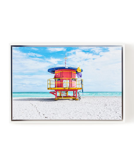 "Lifeguard Chair 10th Street Beach Photography Giclee, 24"" x 16"""