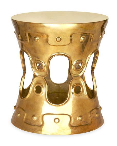 Brass Ulu Convex Side Table