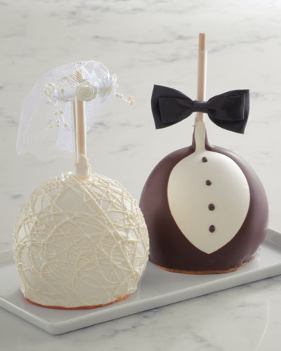 Bride and Groom Jumbo Caramel Apple Set