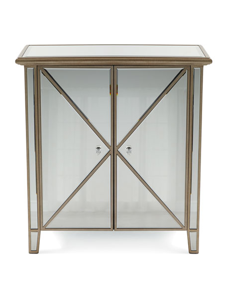 Verena Two-Door Mirrored Accent Chest