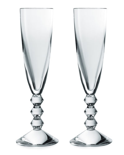 Vega Champagne Flutes, Set of 2