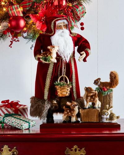 Lynn Haney Woodland Santa Figure with Animals