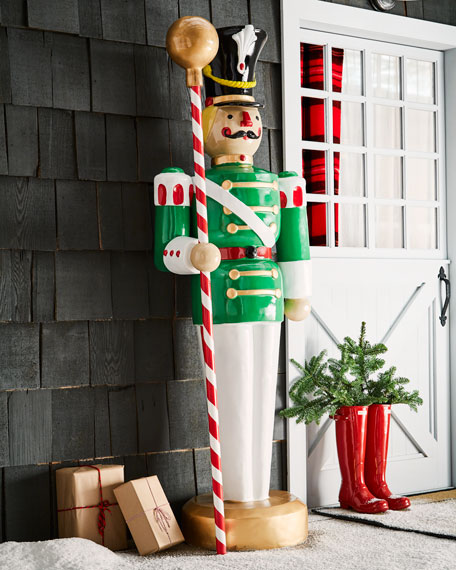 Live Form Toy Soldier with Drum Major's Mace