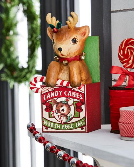 Retro Reindeer in Box