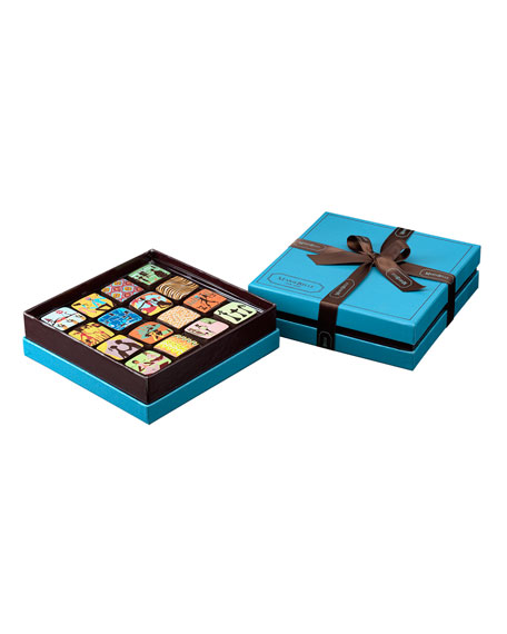 MarieBelle 16-piece Chocolate Ganache Box, Blue