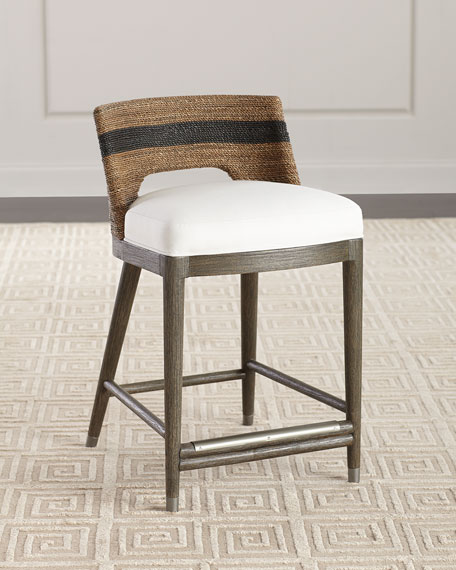 Palecek Elijah Rope Counter Stool