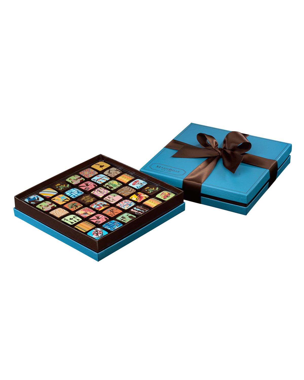 Mariebelle36 Piece Chocolate Ganache Box Blue