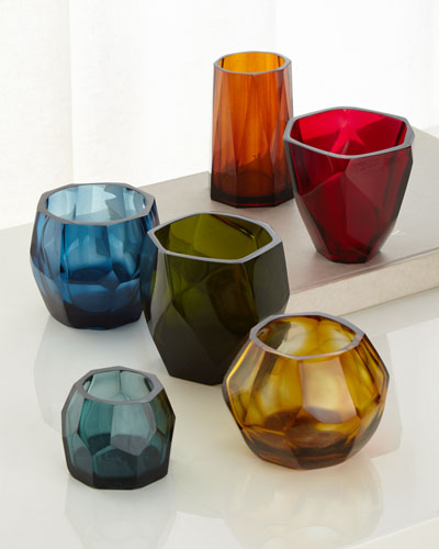 Faceted Vessels  Set of 6