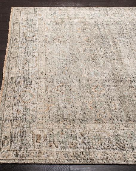Rowan Hand-Knotted Wool Rug, 6' x 9'