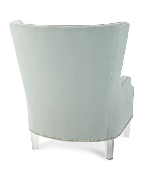 Giselle Button Tufted Wing Chair