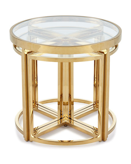 Arpeggio Gold Side Table Set