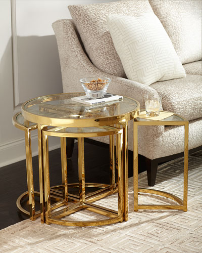 Majestic Golden Side Table Set