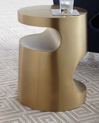 Nico Brass-Finish Side Table