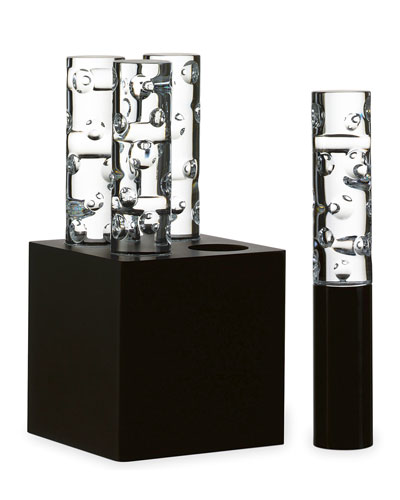 Jallum Pontil LED Crystal Lights  Set of Four