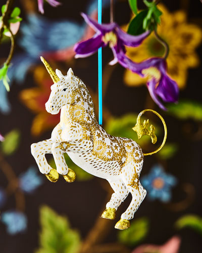 Gold Unicorn Ornament
