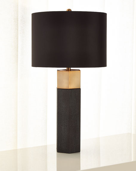 Shagreen Table Lamp with Shade