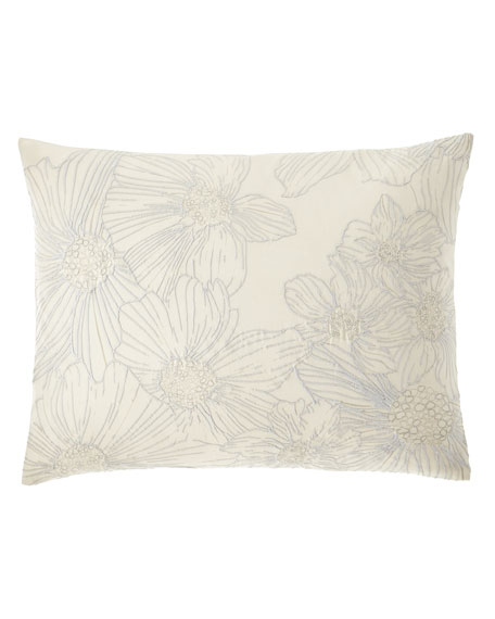 "Allaire Embroidered Decorative Pillow, 15"" x 20"""