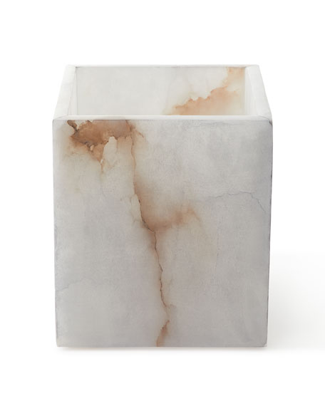 Alabaster Bath Accessory Waste Basket