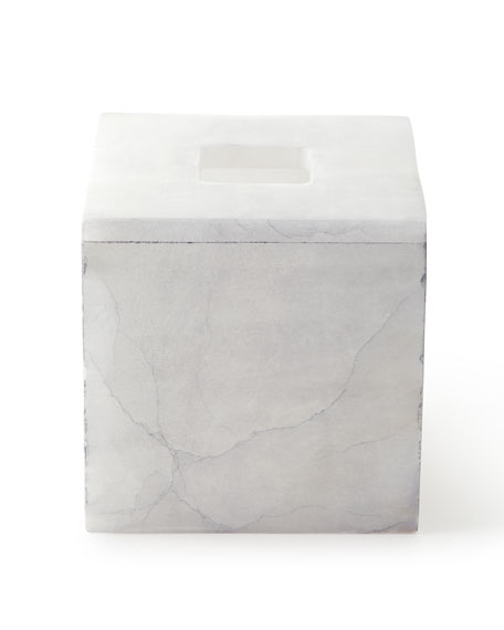 Kassatex Alabaster Bath Accessory Tissue Box Cover