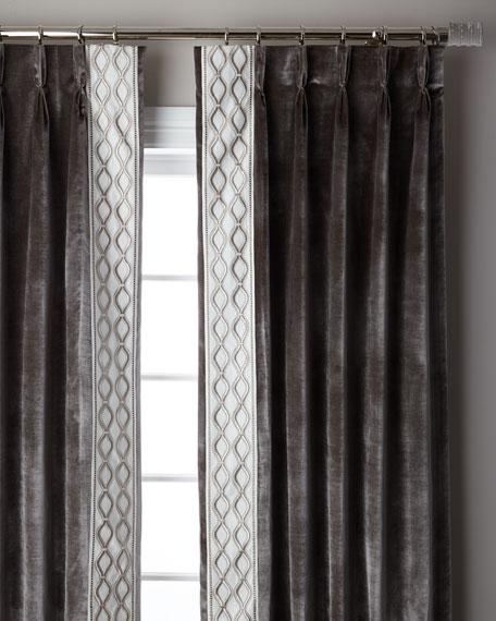 """Steel Metropolitan 3-Fold Pinch Pleat Blackout Curtain Panel, 108"""""""