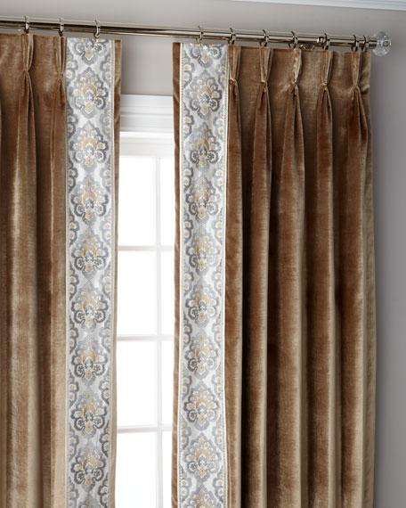 Caramel Provence 3-Fold Pinch Pleat Blackout Curtain Panel, 120""