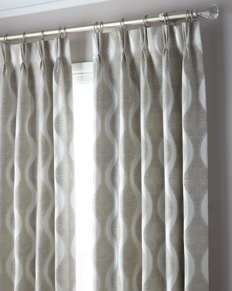 3-Fold Pinch Pleat Wave Curtain, 120""