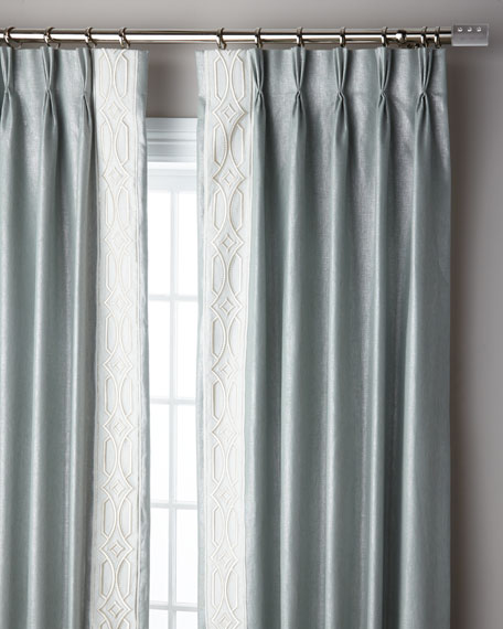 Ocean Sparkle 3-Fold Pinch Pleat Curtain Panel, 120""