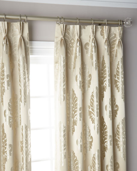 Oyster 3-Fold Pinch Pleat Curtain Panel, 108""