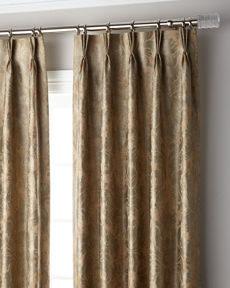 "Bellamy 3-Fold Pinch Pleat Blackout Curtain Panel, 132"""