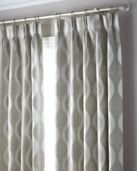 3-Fold Pinch Pleat Wave Curtain, 108""