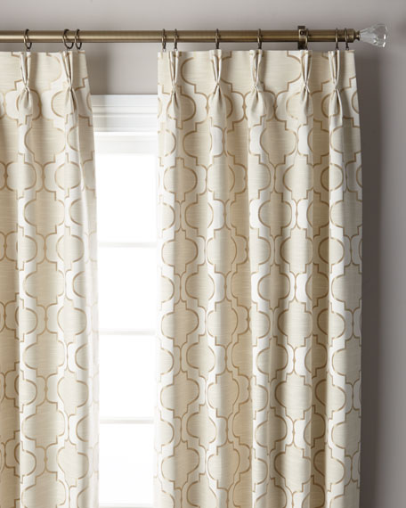 Pearl 3-Fold Pinch Pleat Curtain Panel, 132""