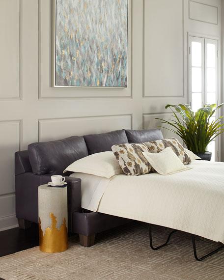 "Denton Leather Sleeper Sofa 86"""