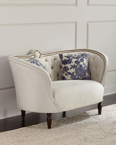 Erin Tufted-Back Settee