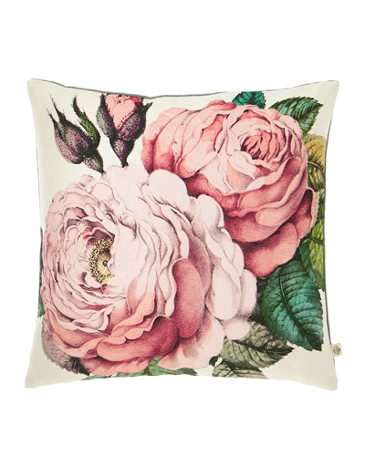 Rose Tuberose Decorative Pillow