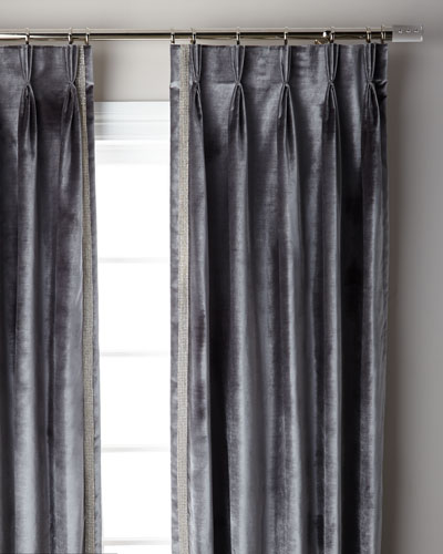 Graphite Pave 3-Fold Pinch Pleat Curtain Panel  108